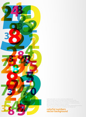 Abstract letters numbers
