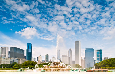 Chicago and fountain