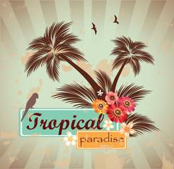 Tropical paradise.Vector illustration