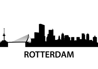 Photo sur Aluminium Rotterdam Skyline Rotterdam