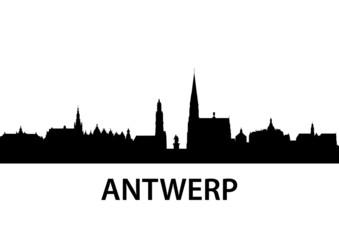Printed roller blinds Antwerp Skyline Antwerp