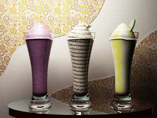 the tasty ice-creams