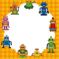cartoon robot card