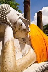 Reclining of buddha in Ayudhaya