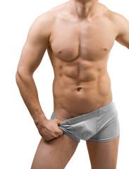 male torso isolated