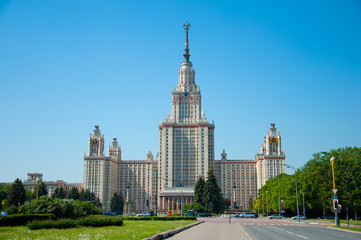 University in Moscow,  buildings of Stalin time.