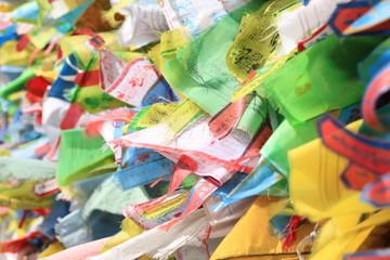 "Буддистские флаги ""Хий-морин"" на удачу"