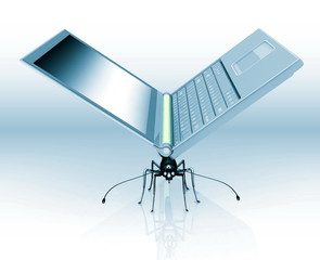 an insect is similar to laptop