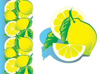 Lemon. Vector art-illustration on a white background.