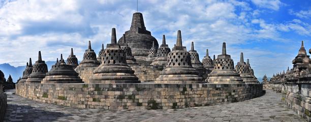 Panorama Borobudur Temple.