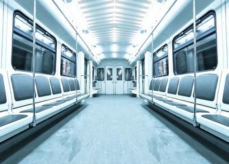 blue contemporary illuminated carriage interior
