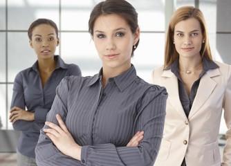 Team portrait of happy businesswomen in office
