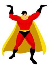 Aluminium Prints Superheroes Superhero in Atlas pose