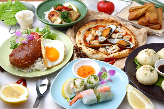 Various dishes of the world