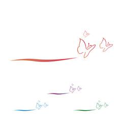 logo vector butterfly