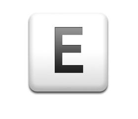 Boton cuadrado blanco letra E