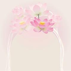 Floral postcard. Lotus.