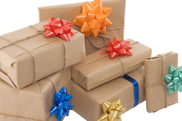 gift boxes with different ribbon