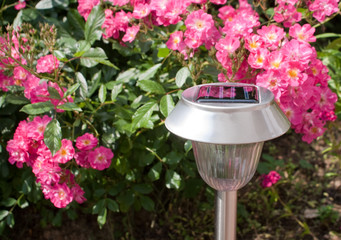 Solarleuchte im Garten II