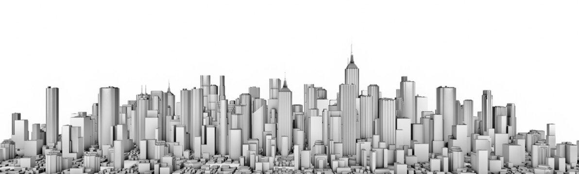 White city panorama