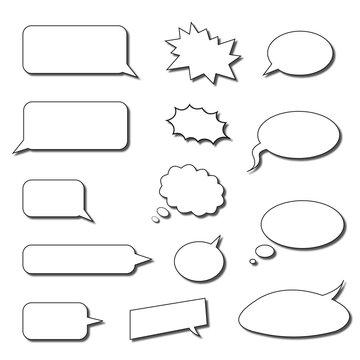 little speech bubbles