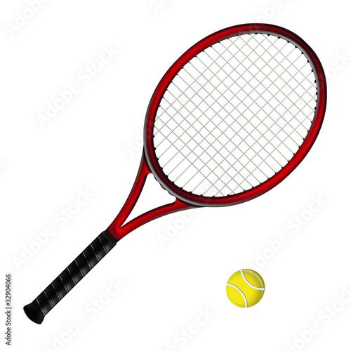 quot raquette de tennis rouge quot  photo libre de droits sur la banque d images fotolia com image 32904066 racquetball clipart free racquetball clipart