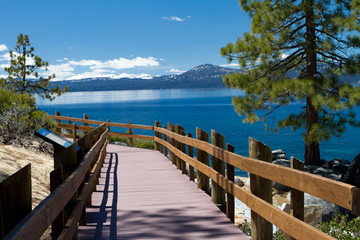Wall Mural - Sand Harbor walkway, Lake Tahoe