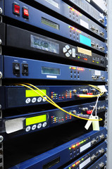 The communication and internet network server room