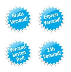 Versand Sticker Set
