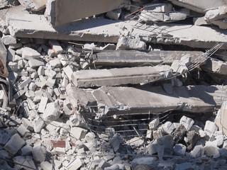 Demolished building detail