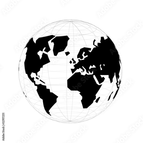 World map globe stock image and royalty free vector files on world map globe gumiabroncs Gallery
