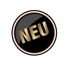 Neu Button Gold - Schwarz