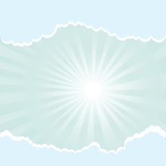 Keuken foto achterwand Hemel sun rays and clouds
