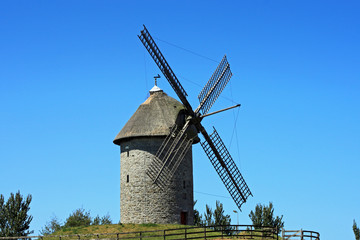Old Thatched Windmill