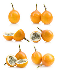 set of passion fruit images