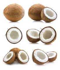 set of coconut images