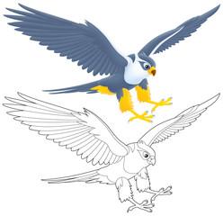 flying falcon