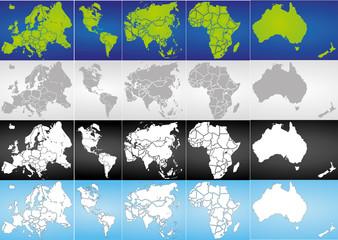 Weltkugel Weltkarte Landkarte Globus Karte 5