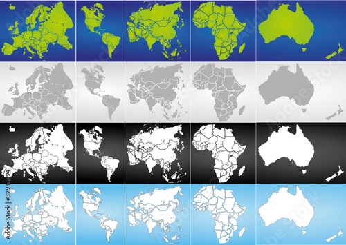 Globus Karte.Weltkugel Weltkarte Landkarte Globus Karte 13 Stock Image And