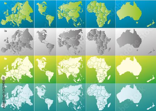 Globus Karte.Weltkugel Weltkarte Landkarte Globus Karte 7 Stock Image