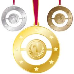 vecteur, médailles