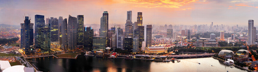 Keuken foto achterwand Singapore Singapore at sunset