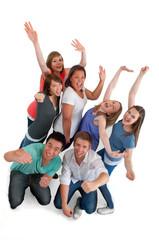 Gruppe ausgelassener Teenager