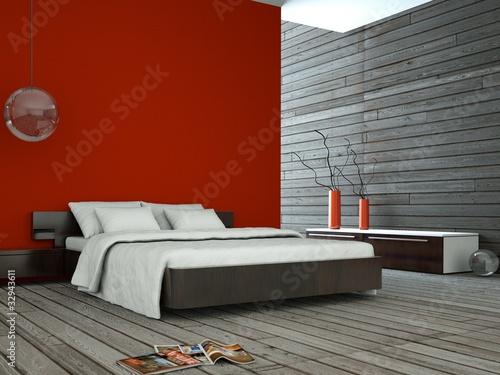 """wohndesign - rotes schlafzimmer"""" stockfotos und lizenzfreie bilder"""