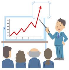 予想以上の成功グラフ