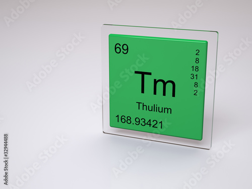Thulium symbol tm chemical element of the periodic - Tungsten symbol periodic table ...