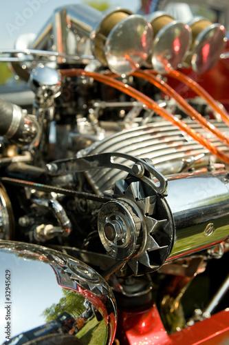 Wall mural closeup of a high performance hot-rod engine