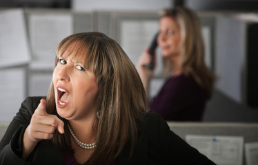 Angry Woman Employee