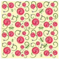 Abstract flower rose seamless pattern background