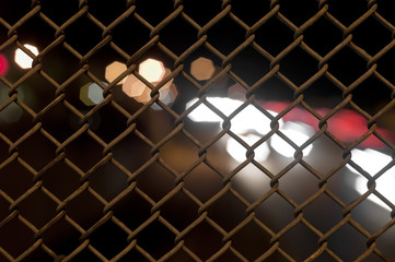 Chain Fence with Bokeh